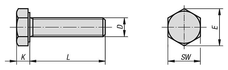 zincate tramite galvanizzazione 10 viti a testa esagonale 8.8 DIN 933