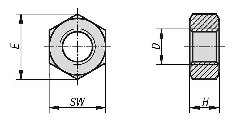 BULLONI esagonali con gambo ISO 4014 8.8 acciaio galvanicamente zincato m27 a m30